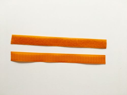 20 mm breites Klettband, orange
